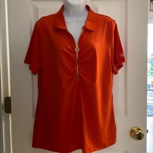 NEW! MICHAEL KORS RUCHED WOMENS SHIRT